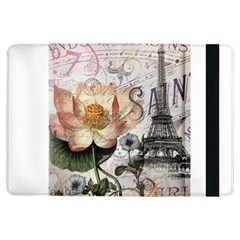 Vintage Paris Eiffel Tower Floral Apple Ipad Air Flip Case