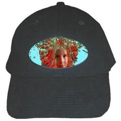 Flower Horizon Black Baseball Cap