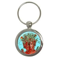 Flower Horizon Key Chain (round)