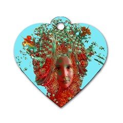 Flower Horizon Dog Tag Heart (one Sided)