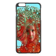 Flower Horizon Apple iPhone 6 Plus Black Enamel Case