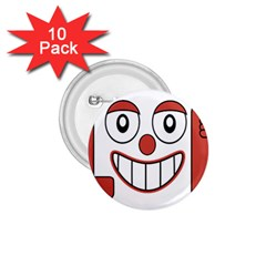Laughing Out Loud Illustration002 1 75  Button (10 Pack)