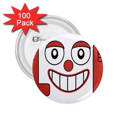 Laughing Out Loud Illustration002 2 25  Button (100 Pack)