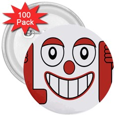 Laughing Out Loud Illustration002 3  Button (100 Pack)