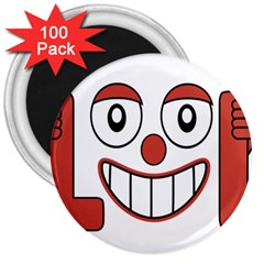 Laughing Out Loud Illustration002 3  Button Magnet (100 pack)