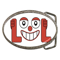 Laughing Out Loud Illustration002 Belt Buckle (Oval)