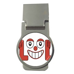 Laughing Out Loud Illustration002 Money Clip (round)