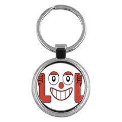 Laughing Out Loud Illustration002 Key Chain (round)