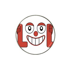 Laughing Out Loud Illustration002 Golf Ball Marker (for Hat Clip)