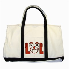 Laughing Out Loud Illustration002 Two Toned Tote Bag