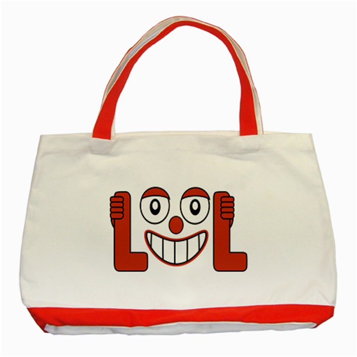 Laughing Out Loud Illustration002 Classic Tote Bag (Red)