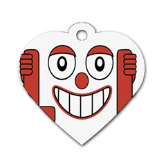Laughing Out Loud Illustration002 Dog Tag Heart (One Sided)