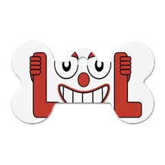 Laughing Out Loud Illustration002 Dog Tag Bone (Two Sided)