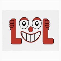 Laughing Out Loud Illustration002 Glasses Cloth (Large, Two Sided)