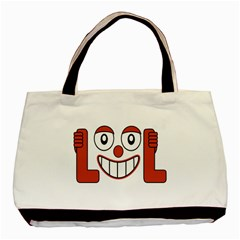 Laughing Out Loud Illustration002 Twin-sided Black Tote Bag