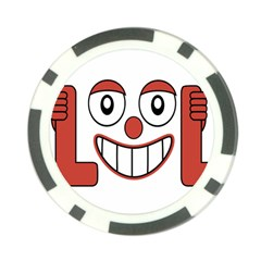 Laughing Out Loud Illustration002 Poker Chip