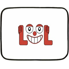 Laughing Out Loud Illustration002 Mini Fleece Blanket (Two Sided)
