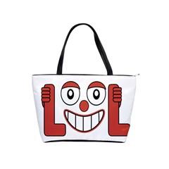 Laughing Out Loud Illustration002 Large Shoulder Bag