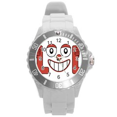 Laughing Out Loud Illustration002 Plastic Sport Watch (large)