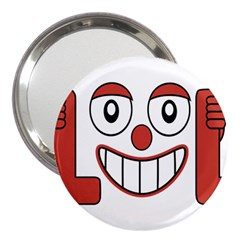 Laughing Out Loud Illustration002 3  Handbag Mirror