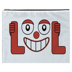 Laughing Out Loud Illustration002 Cosmetic Bag (XXXL)