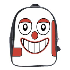 Laughing Out Loud Illustration002 School Bag (xl)
