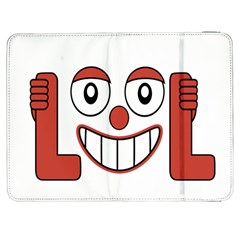 Laughing Out Loud Illustration002 Samsung Galaxy Tab 7  P1000 Flip Case