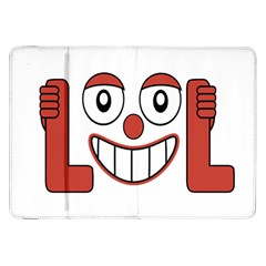 Laughing Out Loud Illustration002 Samsung Galaxy Tab 8.9  P7300 Flip Case