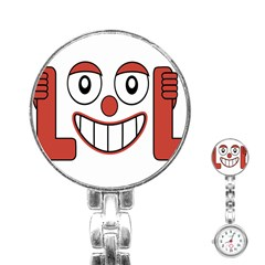 Laughing Out Loud Illustration002 Stainless Steel Nurses Watch