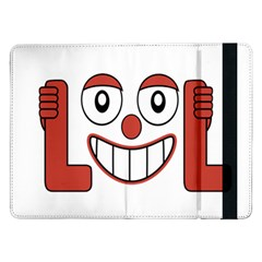 Laughing Out Loud Illustration002 Samsung Galaxy Tab Pro 12.2  Flip Case