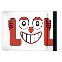 Laughing Out Loud Illustration002 Apple iPad Air Flip Case
