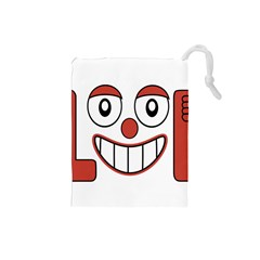 Laughing Out Loud Illustration002 Drawstring Pouch (Small)