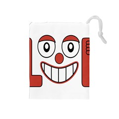 Laughing Out Loud Illustration002 Drawstring Pouch (Medium)