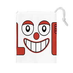 Laughing Out Loud Illustration002 Drawstring Pouch (Large)
