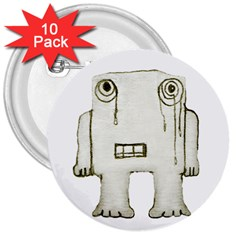 Sad Monster Baby 3  Button (10 pack)