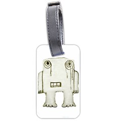 Sad Monster Baby Luggage Tag (One Side)