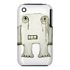 Sad Monster Baby Apple iPhone 3G/3GS Hardshell Case (PC+Silicone)