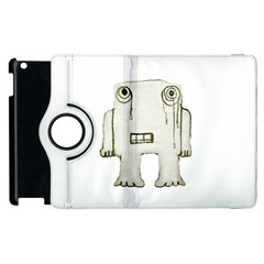Sad Monster Baby Apple iPad 3/4 Flip 360 Case