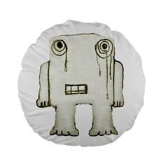 Sad Monster Baby 15  Premium Round Cushion