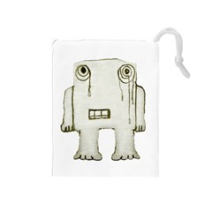 Sad Monster Baby Drawstring Pouch (Medium)