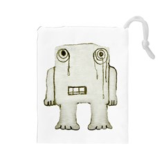 Sad Monster Baby Drawstring Pouch (large)