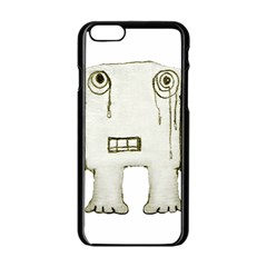 Sad Monster Baby Apple iPhone 6 Black Enamel Case