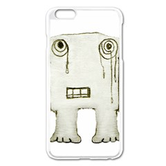 Sad Monster Baby Apple iPhone 6 Plus Enamel White Case