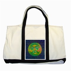 Sun Face Two Toned Tote Bag