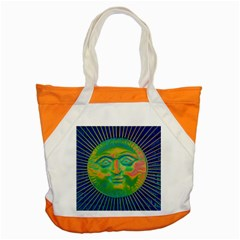 Sun Face Accent Tote Bag