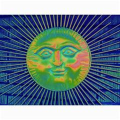 Sun Face Canvas 12  x 16  (Unframed)