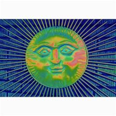Sun Face Canvas 12  X 18  (unframed)