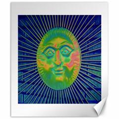 Sun Face Canvas 20  X 24  (unframed)