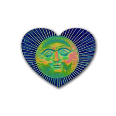Sun Face Drink Coasters 4 Pack (heart)