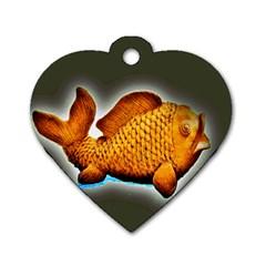 Goldfish Dog Tag Heart (one Sided)